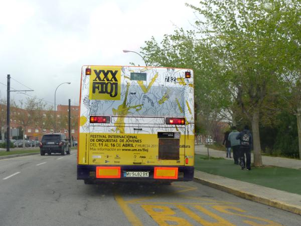 Diseño autobús XXX FIOJ