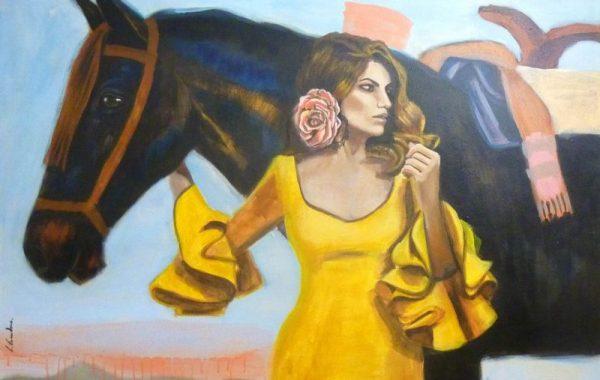 Flamenca con caballo