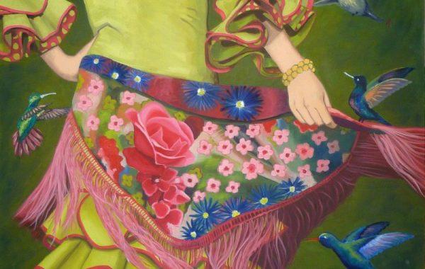 Flamenca y colibríes