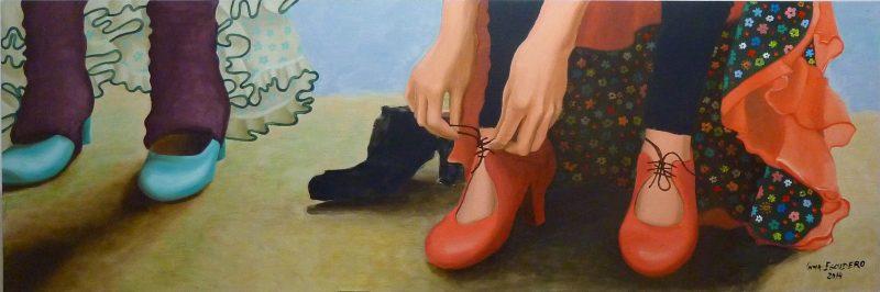 Atándose el zapato 1