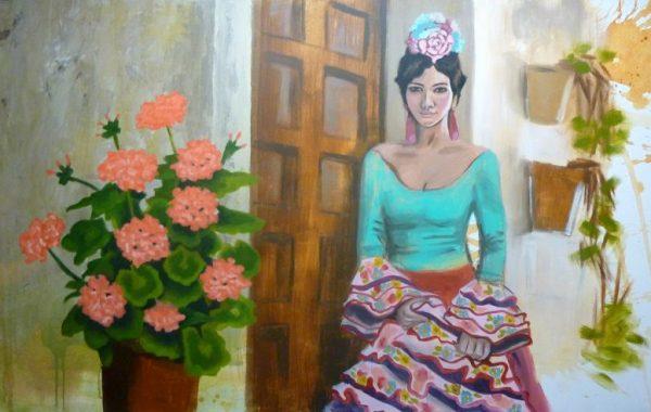 Flamenca en la puerta